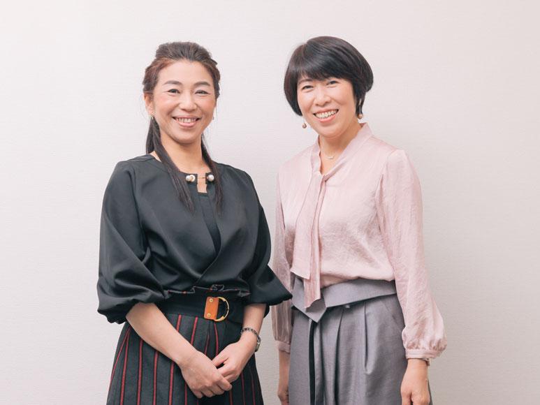 笑顔の代表取締役寺島と、専務取締役阿部の画像